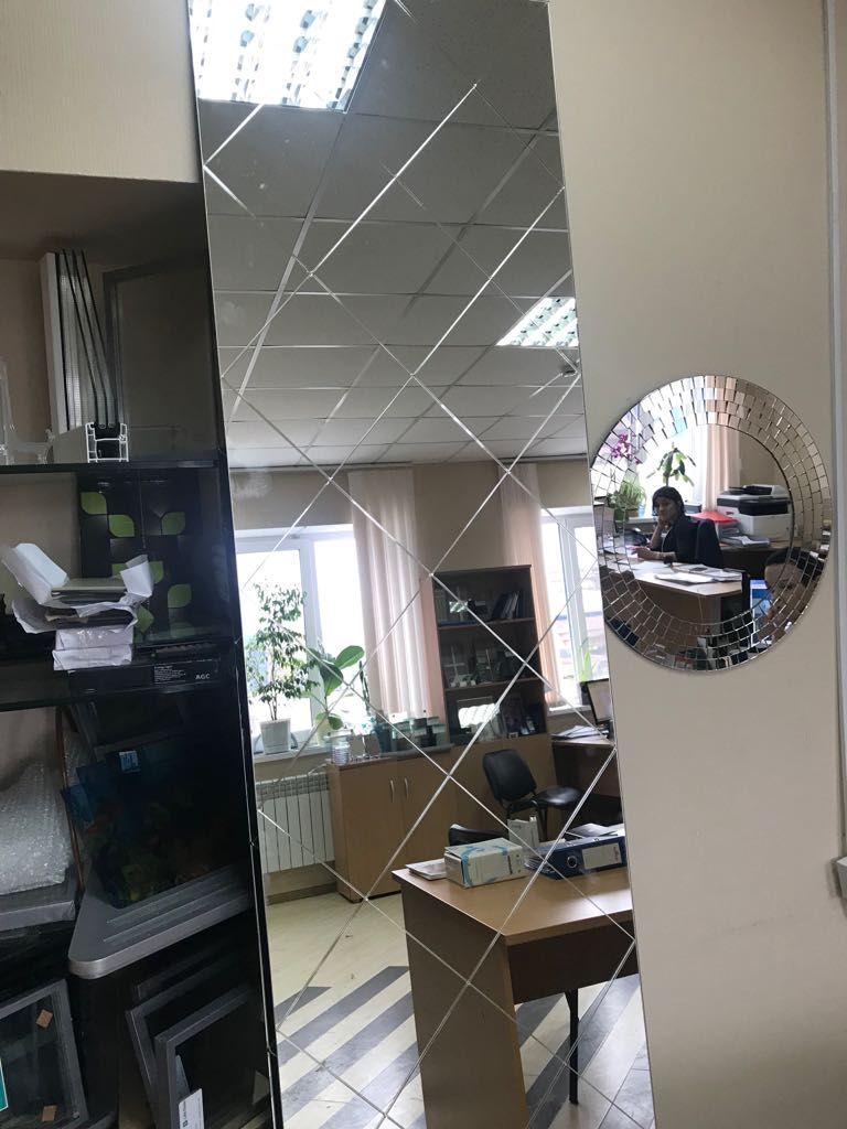 Зеркальное панно с витражным контуром